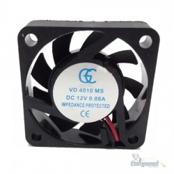 Cooler Micro Ventilador 40x40x10mm 12v